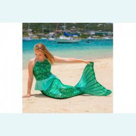 Хвост русалки Лаура зеленый