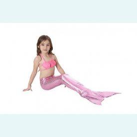 Хвост русалки Китайский блеск бледно-розовый+ купальник