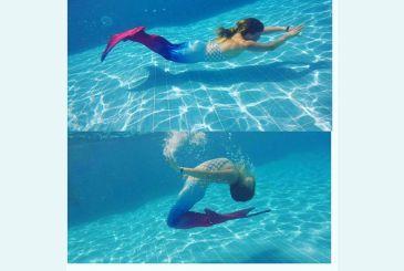 Красно-синий хвост плавание от Алины_3