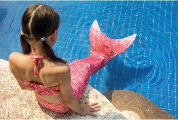 Нежно-розовый хвостик с чешуей1