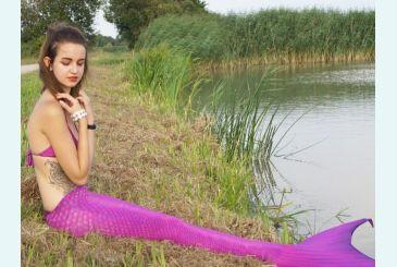 Хвост Люкс фиолетовый фото Дианы