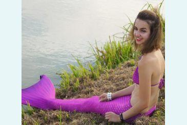 Хвост Люкс фиолетовый фото Дианы_1