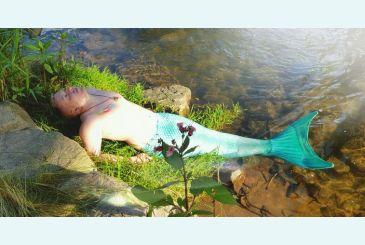 Хвост Люкс морская волна для русала