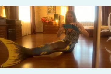 Хвост Delfina синий фото Андре