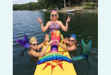 Пляжная вечеринка русалочек с хвостом Анталия-радуга