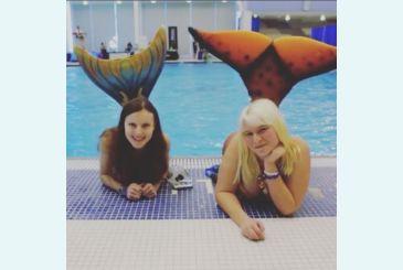 Хвост Дельфина Меджик Марина и его обладательница на  встрече русалок