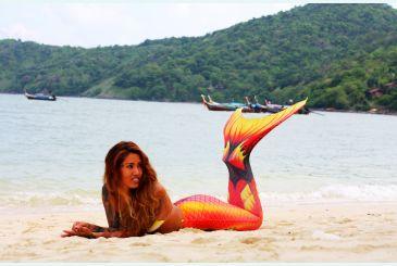 Хвост Дельфина красный фотосессия