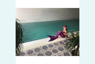 Хвост Люкс фиолетовый 4