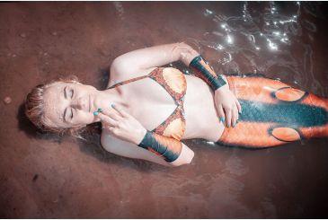 Хвост Delfina 3D черный фотосессия Real Mermaid_1