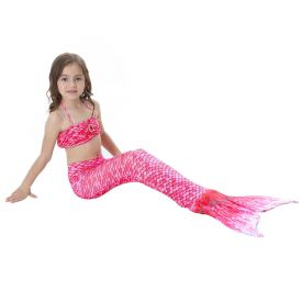 Хвост русалки Малибу розовый с чешуей + купальник