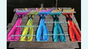 Моноласты для плавания  и ткани от хвостов русалок