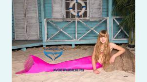 Хвост русалки Delfina Barbie розовый Финляндия +купальник