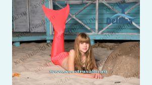 Хвост русалки для плавания  H20  оранжевый + купальник