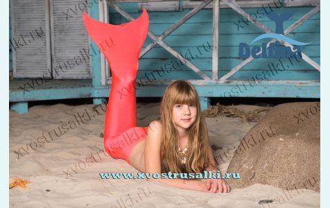 Хвост русалки для плавания  Standart H20  оранжевый + купальник