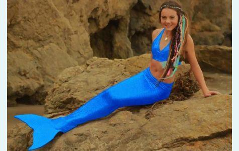 Хвост русалки  для плавания Стандарт  оригинал синий +купальник