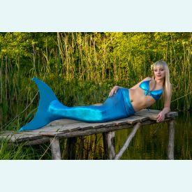 Хвост русалки EXTRA голубой+купальник