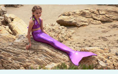 Хвост русалки Normal блеск фиолетовый, купить фиолетовый хвост русалки можно у нас в магазине хвост русалки ру