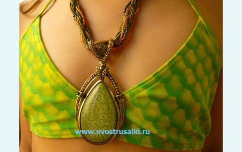 Кулон русалки, медальон