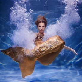 Хвост русалки золотой для фотосессии