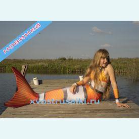 Хвост русалки для плавания Тропический