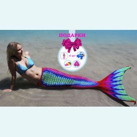 Хвост русалки Lux Venus ЛЮКС Венера с чешуей +купальник