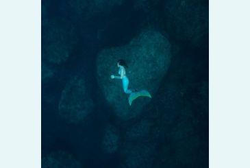 Хвост Дельфина Морская волна под водой_2