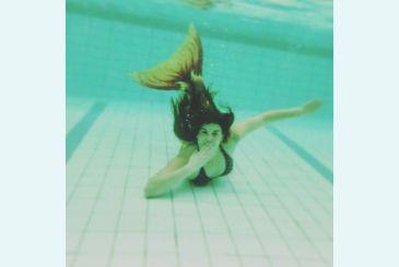 Хвост Дельфина Кариба под водой_2