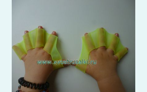Перепонки для плавания, ласты на руки