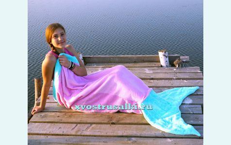 Плед Хвост русалки для  подростков