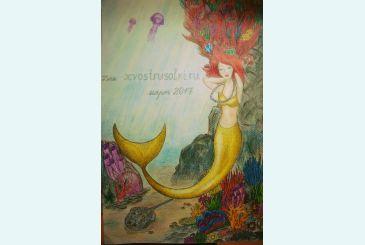 Рисунок Анны Романовны специально для нашего сайта