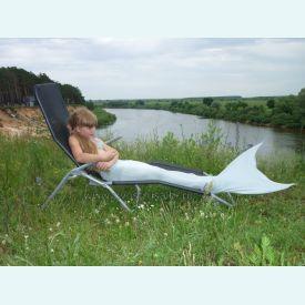Хвост русалки EXTRA серебристо- серый+купальник