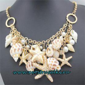 Ожерелье русалки для фотосессии с ракушками