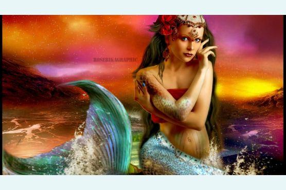 Фото, селфи, фотосессия  в хвосте русалки