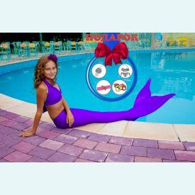 Хвост русалки фиолетового цвета + купальник