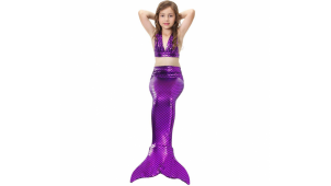 Хвост русалки Китайский блеск фиолетовый + купальник
