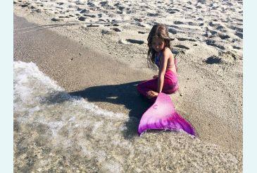 Русалочки в хвосте Принцесса 3D фиолетовом