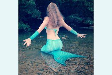 Хвост Люкс морская волна фото Лесная русалка
