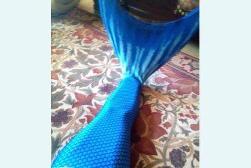 Хвост Люкс синий примерка