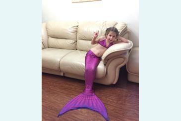 Хвост Люкс фиолетовый 3