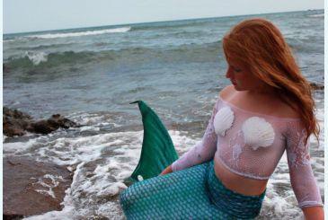 Хвост Люкс морская волна фото Анастасии