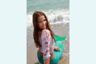 Хвост Люкс морская волна фото Яны 5