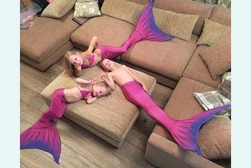 Хвост Люкс фиолетовый для детей