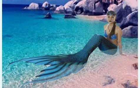 Хвост русалки для плавания Нептуния +топ русалки