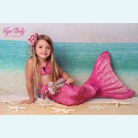Хвост русалки Люкс Акватика розовый +купальник