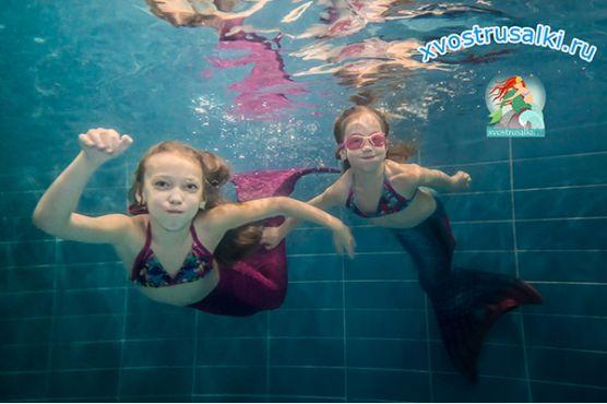 Подводная фотосьемка в хвостах русалок