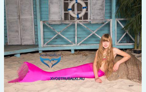 Хвост русалки Delfina Barbie розовый Финляндия+купальник