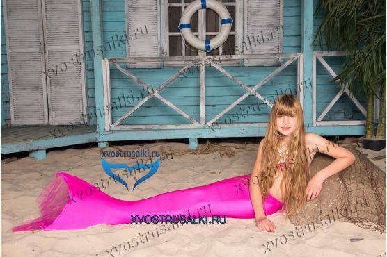 Купить хвост русалки Delfina Barbie розовый