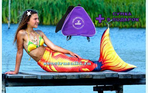 Хвост русалки Delfina 3D Sea Queen Fairy Fare +купальник  c большой моноластой евростандарта для плавания как настоящий силиконовый хвост русалки