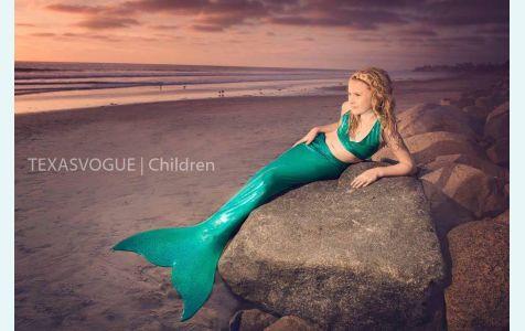 Хвост русалки  для плавания  Стандарт  морская волна