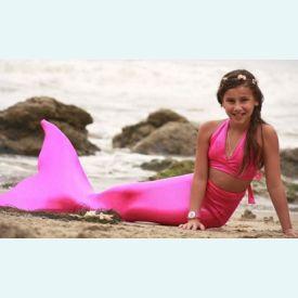 Хвост русалки для плавания Стандарт розовый+купальник